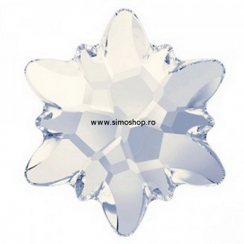 P2643-Swarovski Elements 2753 White Opal Foiled 14mm