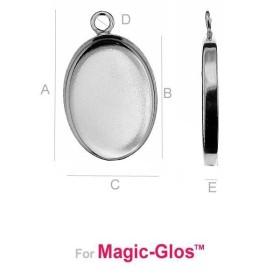 G0908-Agatatoare sferica pentru charm-uri 10x6mm