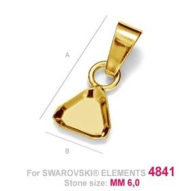 G0931-Baza inel reglabil pentru rhinestone cube 6mm