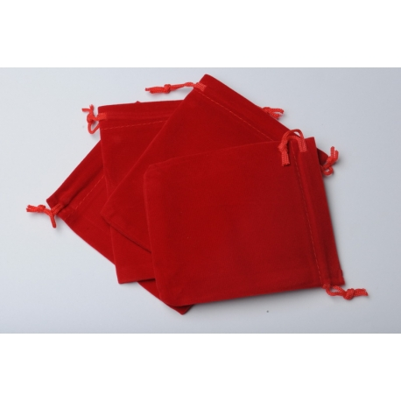 D015-Saculet din catifea rosu 12x10cm-1 buc