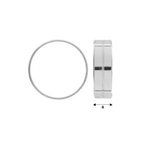 G945-Baza pandant cu za deschisa Swarovski Cube 4841 de 6mm