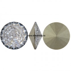 P2660-SWAROVSKI ELEMENTS 1122 Silver Patina Foiled 12mm