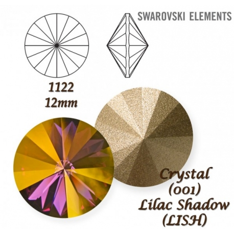 P2670-SWAROVSKI ELEMENTS 1122 Crystal Lilac Shadow SS47-11mm