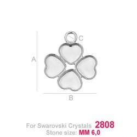 G0950-Baza simpla pandant Swarovski Heart 2808 de 6mm