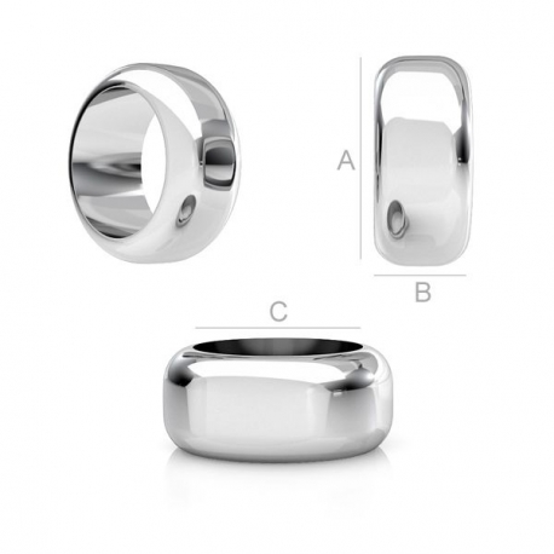 G0979-Distantier argint 925 8x3.5mm pentru bratari pandora