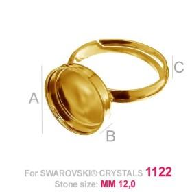 P2367-Swarovski Elements 1088 Light Colorado Topaz F SS45 10mm