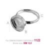 P2124-Swarovski Elements 1088 Light Colorado Topaz F SS39 8mm