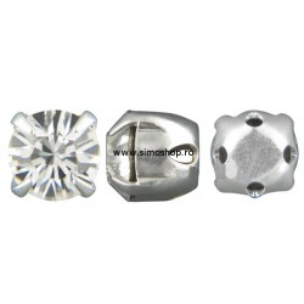 2633-Swarovski Elements Chaton Montee53203 SS29 6mm Crystal F