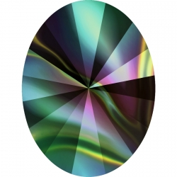 2639-Swarovski Elements 4122 Crystal Rainbow Dark Foiled 8x6mm 1 buc