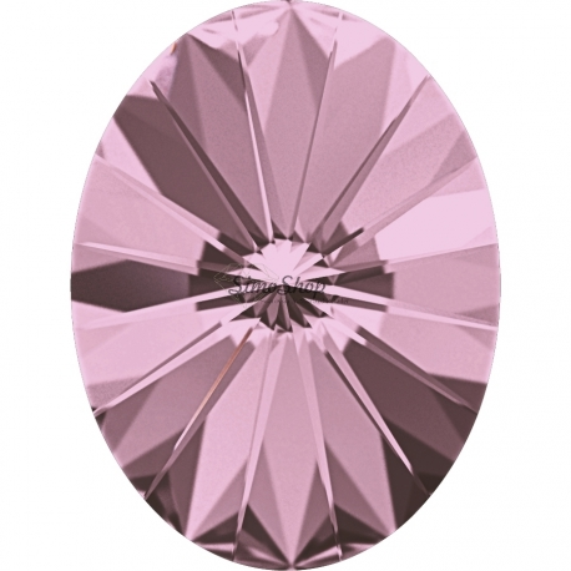 2641-Swarovski Elements 4122 Crystal Antique Pink Foiled 8x6mm 1 buc