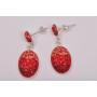2641-Swarovski Elements 4122 Crystal Luminous Green Foiled 8x6mm 1 buc