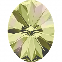 2641-Swarovski Elements 4122 Crystal Luminous Green Foiled 8x6mm 1 buc