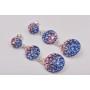 2644-Swarovski Elements 4122 Crystal Dark Red Unfoiled 8x6mm 1 buc