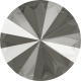 P2751-SWAROVSKI ELEMENTS 1122 Dark Grey Unfoiled 12mm-1buc