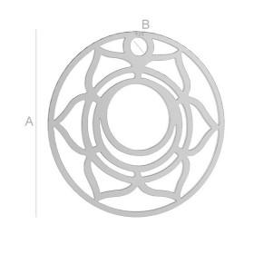 P2772-Swarovski Elements 6480 Rainbow Dark 18mm 1 buc