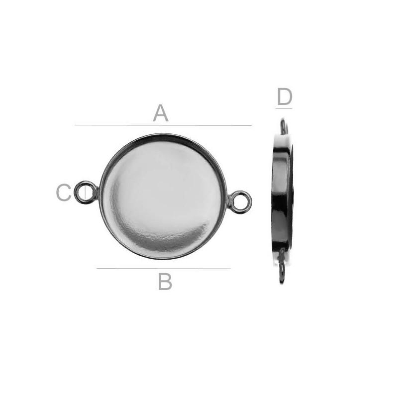 2656-SWAROVSKI ELEMENTS 2088 Crystal Dark Grey UF SS12-3m
