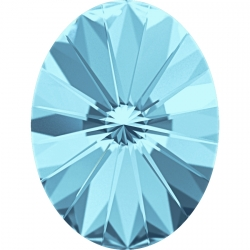 P2719-Swarovski Elements 4122 Aquamarine Foiled 14x10.5mm