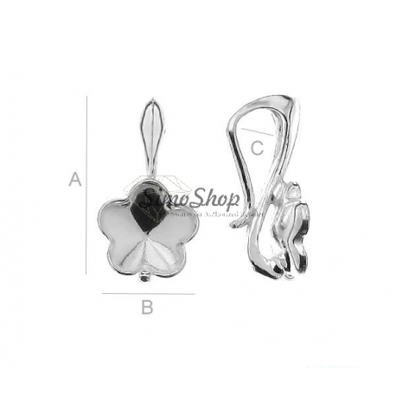 G1204-Baza pandantiv pentru Swarovski Flower 4744 de 6mm