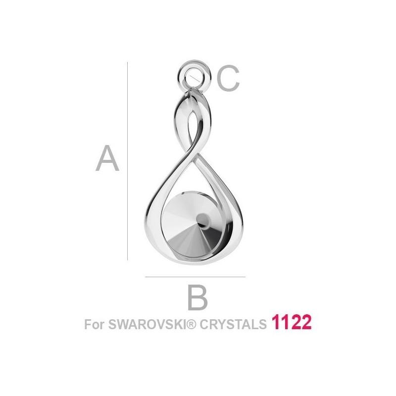 P1500-Swarovski Elements 6320 Crystal Aurore Boreale 19mm 1 buc