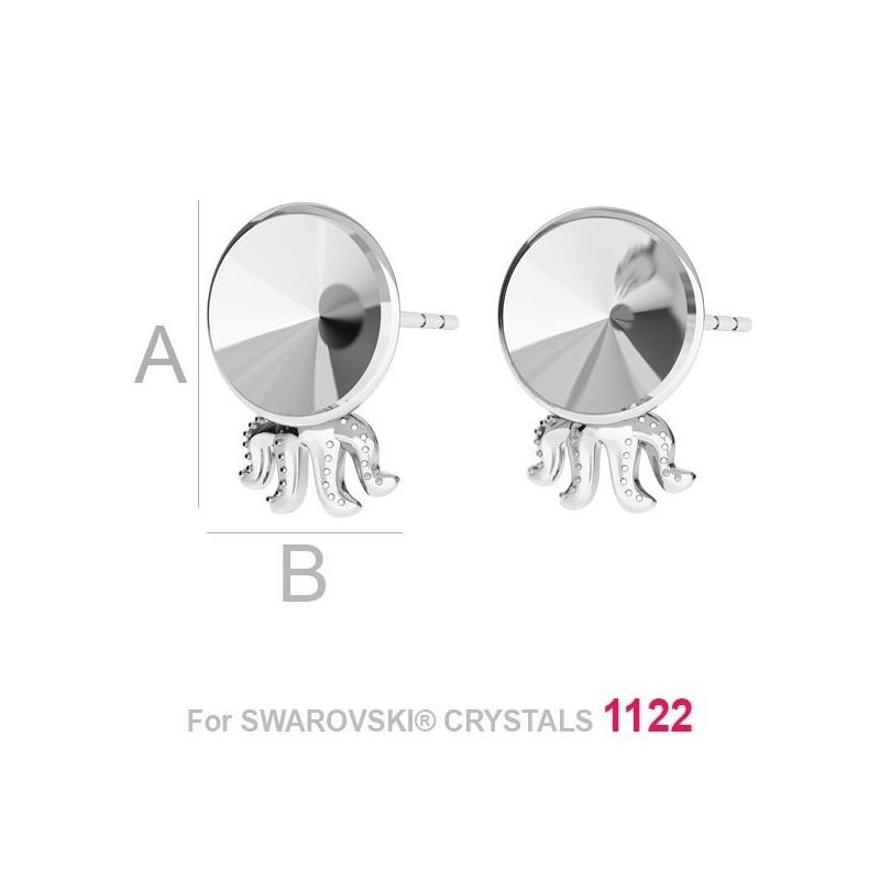 P1405-Swarovski Elements 6320 Crystal Aurore Boreale 14mm 1 buc