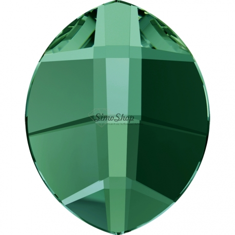 P0166-SWAROVSKI ELEMENTS 2204 Emerald Foiled 10x8mm 1 buc
