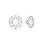 2076-Swarovski Elements 1088 Light Rose Foiled PP 18 2.5mm 1 buc