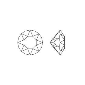 2076-Swarovski Elements 1088 Light Rose Foiled PP 18 2.5mm 1 bu
