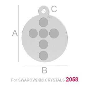 1088 SS 39 CRYSTAL WHITE-PAT F Swarovski Elements 1088 Crystal White Patina F SS39 8mm