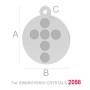 P2648-Swarovski Elements 1088 Crystal White Patina F SS39 8mm