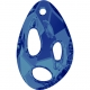 P2203-Swarovski Elements 6730 Bermuda Blue P 34x22mm