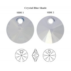 0760-SWAROVSKI ELEMENTS 6428 Crystal Blue Shade 6mm-1 buc