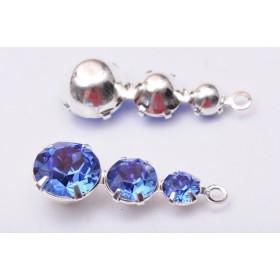 P0017-Swarovski Elements 6228 Sapphire Aurore Boreale 10mm