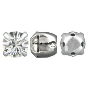 P0121-Swarovski Elements 2493 Chessboard FB Crystal AB F 10mm