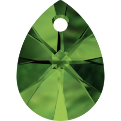 P1506-Swarovski Elements 6128 Dark Moss Green 12mm-1 buc