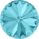 2146-SWAROVSKI ELEMENTS 1122 Light Turquoise Foiled SS39-8mm