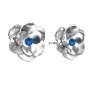 P0032-SWAROVSKI ELEMENTS 1122 Emerald Foiled SS47-11mm-1buc