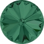 2003-SWAROVSKI ELEMENTS 1122 Emerald Foiled SS29-6mm