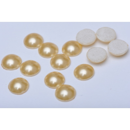 0801-Swarovski Elements 2080 Crystal Gold Pearl M-Foiled  7mm