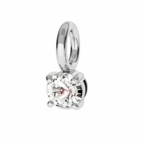 P2910-Swarovski Elements 6228 Crystal Silver Patina 14mm