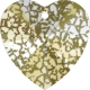 P2913-Swarovski Elements 6228 Crystal Gold Patina 14mm