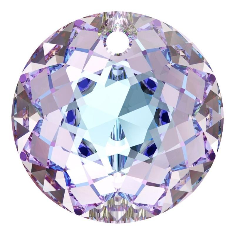 P2914-Swarovski Elements 6228 Crystal Silver Patina 18mm