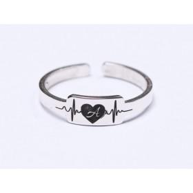 INOX012-Lant zale ovale cu striatii din inox 0,5x2mm - 1 metru
