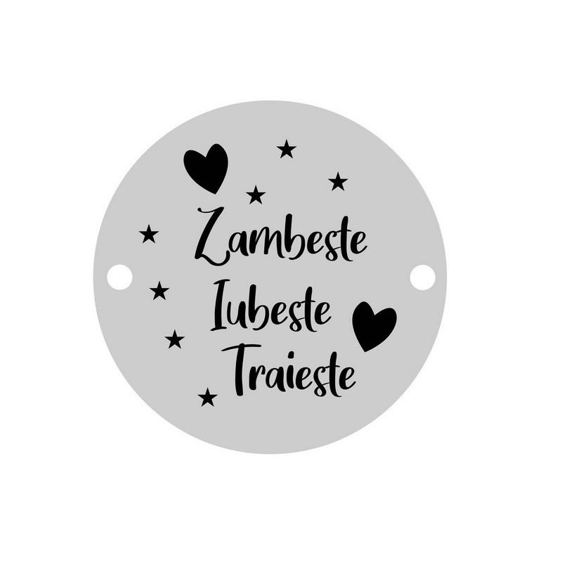 INOX013-Lant zale dreptunghiulare din inox 0,5x2,5mm - 1 metru