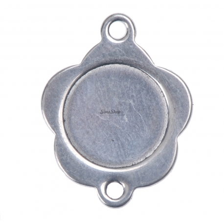 INOX037-Link floare din inox 18x15mm