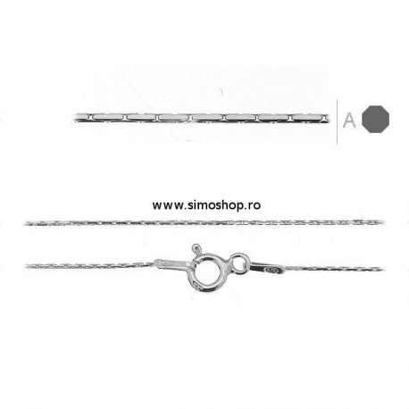 G1090-Colier lant cardano argint 925 0.55mm x 55cm