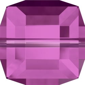 P2985-Swarovski Elements 5601 Cube Bead Fuchsia 6mm