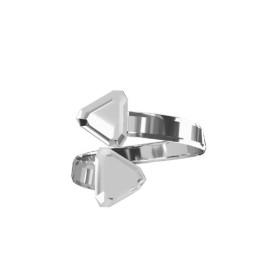 P2987-Swarovski Elements 5601 Cube Bead Crystal Light Chrome B 6mm