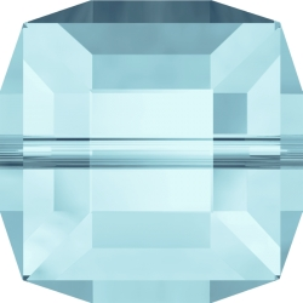 P2995-Swarovski Elements 5601 Cube Bead Aquamarine 6mm