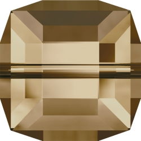 P2998-Swarovski Elements 5601 Cube Bead Crystal Golden Shadow B 6mm