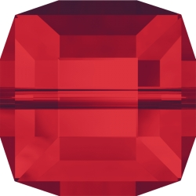 P3020-Swarovski Elements 5601 Cube Bead Light Siam 8mm